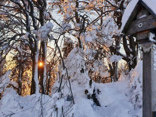 Sončni zahod na Prevali